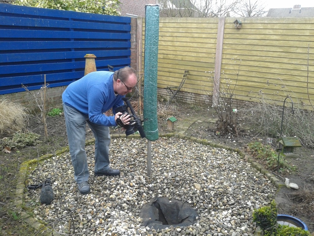 Foto s grindterras en mini vijver giel van eck watermanagement samenwerken in de waterketen - Foto van tuin vijver ...
