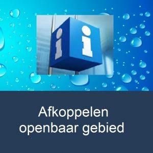 info-afkoppelen-openbaar-gebied-water-drop-background
