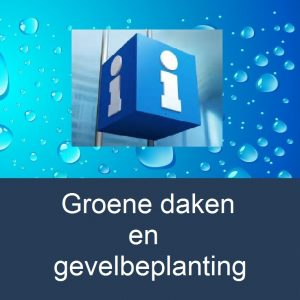 info-groene-daken-water-drop-background